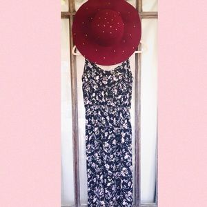 Forever21 Floral, Floor Length, Maxi Dress - Small